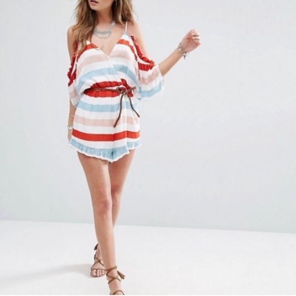Lovers + Friends Dresses & Skirts - Lovers and Friends Malia Ruffled Romper